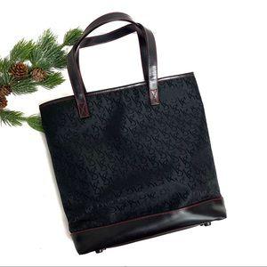Victoria's Secret Logo Fabric Tote Bag Black